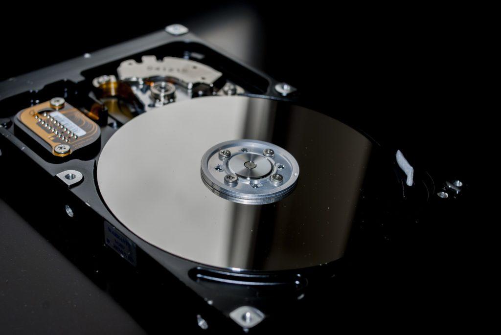 A hard drive.